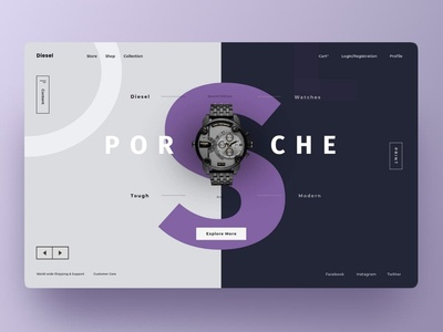 Diesel : Redesign Landing page web concept