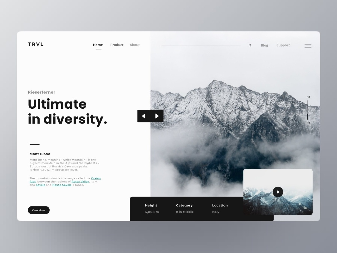 TRVL : Landing page branding trend flat typography website web ui materialon animation app fluent interaction user webdesigner white ux interface exploration design cleanui