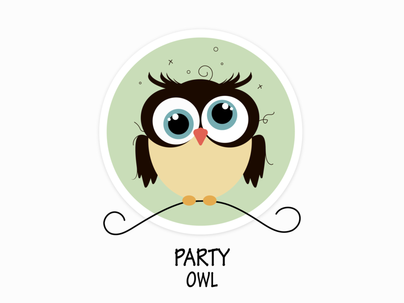 Party Owl illustration vector flat design party owl party owl
