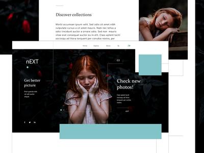 Next Website flat  design web website webpage ux ui design ux ui webdesign