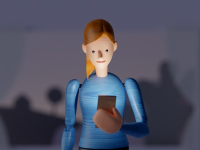 Call me please animation character 3d