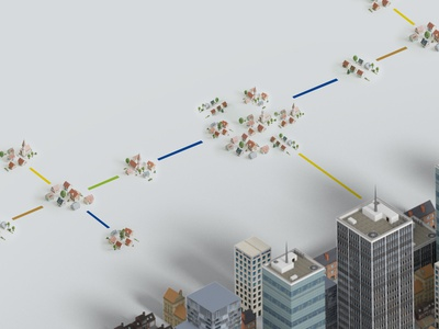 Cities vs Villages scalemodel animation 3d
