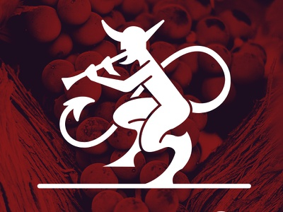 Il Diavolo Logo italia concert blackmetal music satan evil metal red wine devil logo