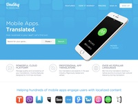 New landing page for OneSky's mobile apps vertical