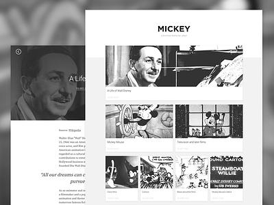 Mickey - a minimal Jekyll theme black and white jekyll theme blog mickey minimal theme jekyll
