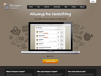 Resume Tracker Landing Page hr human resources web app landing website