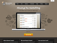 Resume Tracker Landing Page