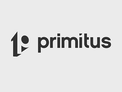 Logo of Primitus logo white space negative space black hidden message