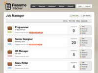 Job Management page