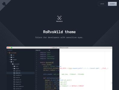RoRvsWild theme developer tools ruby gnome textmate sublime text terminal atom visual studio light theme dark theme theme