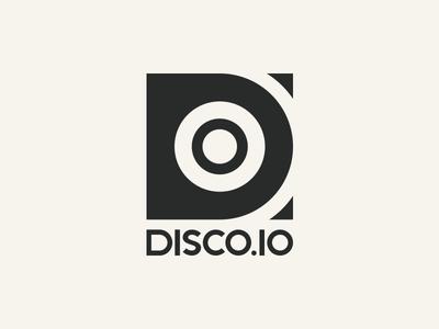DISCO.IO logo logo music music service