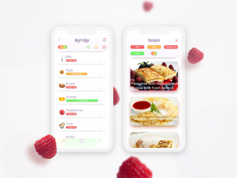 Expiration date app useful cooking meal user experience grocery sketch fridge recipe app food app authentic ux ui iphone ios app design