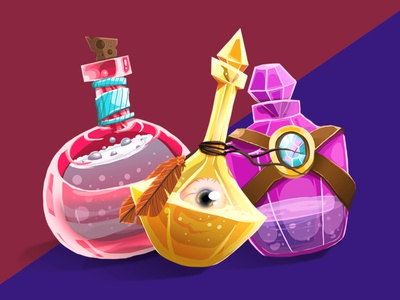 Set of potions
