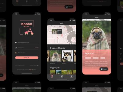 Doggo Mates - iOS App Design
