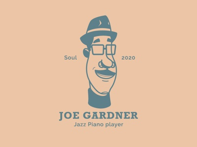 Joe Gardner graphicdesign characterdesign logo isotype logotype logodesign pixar pixarsoul design fanart vector minimal illustration