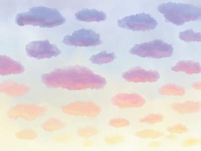 Sunrise scenery aesthetic nature clouds sky illustrator digital art drawing illustration