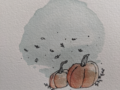 is it autumn yet summerisoverparty fall autumn plants flowers hand drawn pumpkins art drawing hand drawn illustration illustrator watercolor