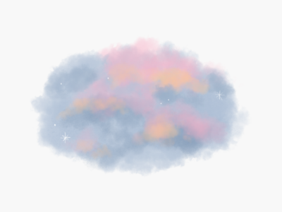 Fluffy Clouds doodle nature clouds graphic design stickers illustrator digital art drawing illustration