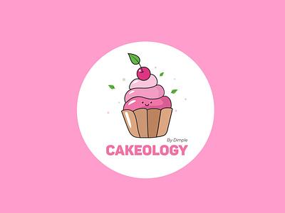 Cupcake Logo cupcake icon character 2d flat minimal typogaphy vector design web ui branding logo design logo