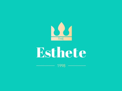 Esthete Logo Design Instagram social media app design crown clean minimal ui vector graphic design design logo design identity brand branding