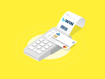 POS Payment Illustration Bank yellow payment 3d branding identity brand logo flat graphic  design design ui drawing vector illustration