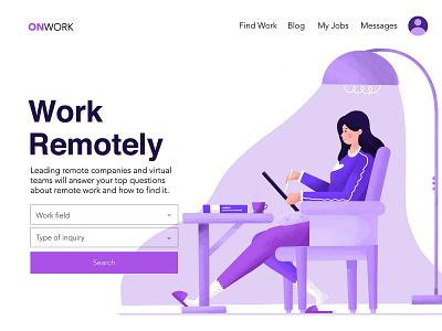 Work Remote logo minimal app vectors typography character design illustration web design web ui design uxui ui ux