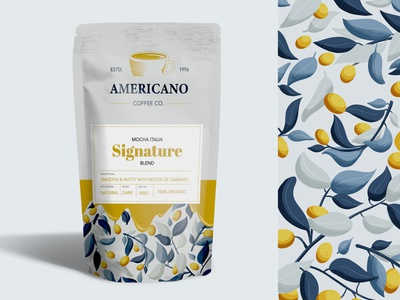 Coffee beans packaging logotype logo coffee typogaphy mockup 2d 3d flat product design design drawing illustration package