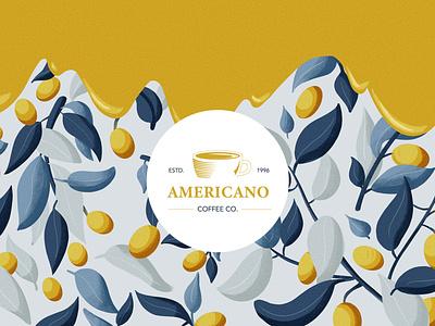 Coffee Logo art branding drawing minimal clean 2d flat illustration vector design pattern logo design logotype