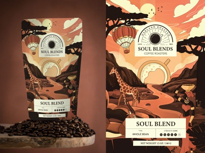 Coffee Package SoulBlends product design coffee shop cafe logotype logo mockup 3d package design product coffeepackaging graphic design design package coffee