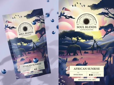 Coffee Package Design Africa logotype logo coffee typogaphy mockup 2d 3d flat product design design package package design illustration cafe