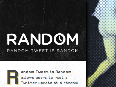 Random Tweet is Random random tweet is random gotham rounded logo grunge dark random clock time t.26 carbon