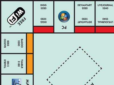 Monopoly Concept design illustration kabel monopoly