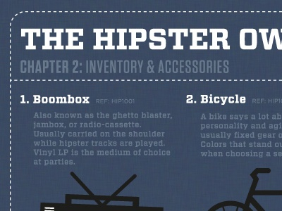 The Hipster Owner's Manual vitesse tungsten hipster boombox bicycle