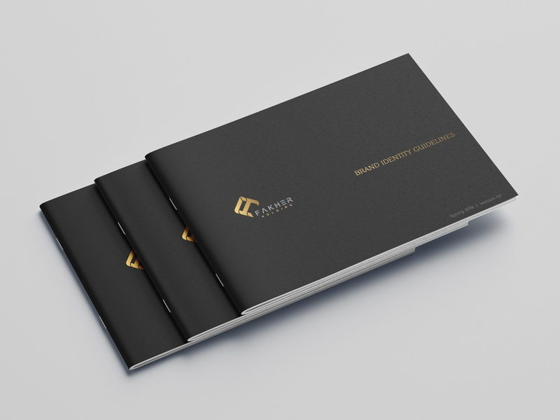 Brand Identity Guidelines for Fakher Holding visual identity corporate identity brand identity design
