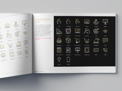 Icon set design for Fakher Holding