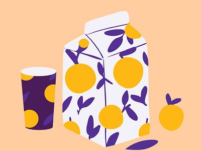 pack of the mood orange juice package design juice bar flower vector illustrator graphic flat vector illustration design character illustration fruits fruit juice