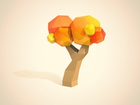 Low Poly Tree  cinema4d tree 3d low poly chad musch