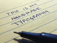 Handmade Type typography handmade razor point jk chad musch