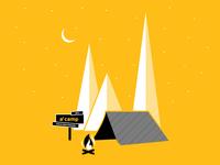 Summer Camp Shirt camp tent trees stars fire t-shrit chad musch