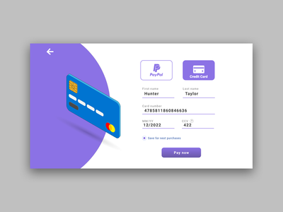 Credit Card checkout   ( dailyui 002 )