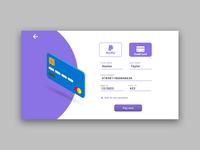 Credit Card checkout   ( dailyui 002 )