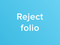 Reject folio
