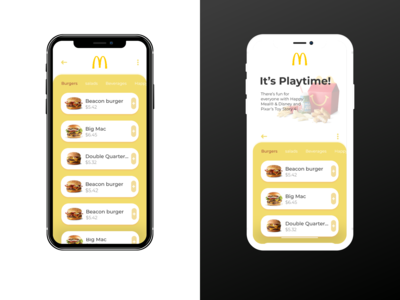 The Food App design