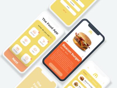 The Food App design