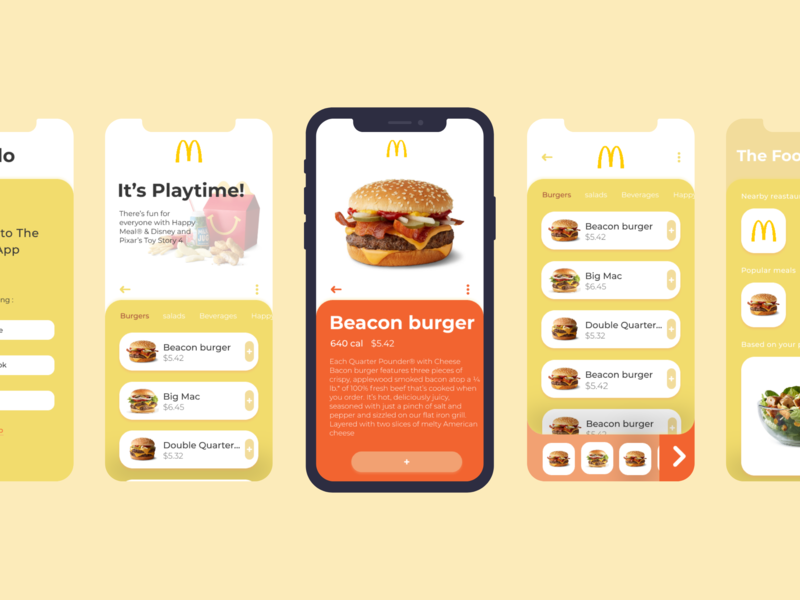 The Food App design interface application product design mobile ios design ui ux app design app