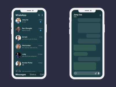 Dark whatsapp concept
