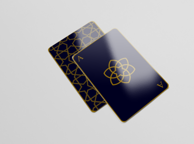 playing cards with Islamic geometric pattern - 2