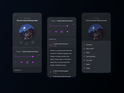 Audiobook player: listen, read, love reading app reading audio player audioplayer audiobooks audio app audiobook audio book mobile mobile design mobile app design mobile app mobile ui