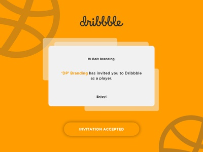 Hello Dribbble! logo design branding orange bolt branding hi dribbble hello dribbble debut first shot dribbble