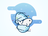 Fish Egg blue cute animation packaging branding inquiry work fish illustration icon egg dribbble